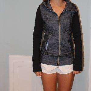 Lululemon Blue and Black Zip Up Sweatshirt